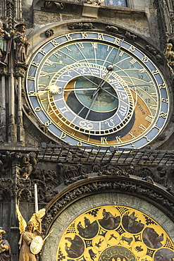 The Astronomical Clock, Old Town Hall, UNESCO World Heritage Site, Prague, Europe