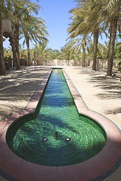 Moorish pond at the Madinat Jumeirah Hotel, Jumeirah Beach, Dubai, United Arab Emirates, Middle East