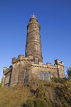 Nelson Monument, Calton Hill, Edinburgh, Lothian, Scotland, United Kingdom, Europe