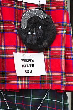 Kilts for sale, The Old Town, Edinburgh, Scotland, United Kingdom, Europe