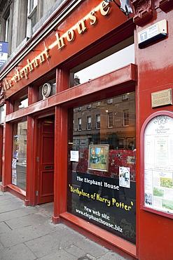 The Elephant House Cafe where J. K. Rowling wrote the first Harry Potter books, Edinburgh, Scotland, United Kingdom, Europe