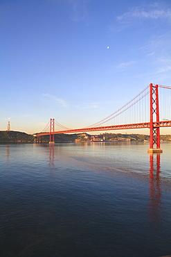 The 25th April Bridge over the Tagus River, Lisbon, Portugal, Europe