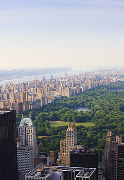 View over Central Park and the Upper West Side skyline, Manhattan, New York City, New York, United States of America, North America