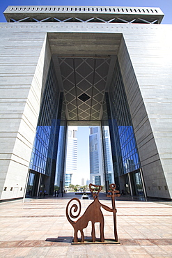 The Gate Building is the hub of the Dubai International Finance Center (DIFC), housing the Stock Exchange and many international finance houses, Dubai, United Arab Emirates, Middle East