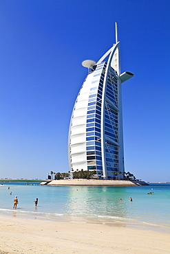 The iconic Burj Al Arab Hotel, Jumeirah, Dubai, United Arab Emirates, Middle East
