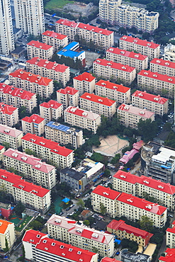 A new housing development in the Lujiazui district, Pudong, Shanghai, China, Asia