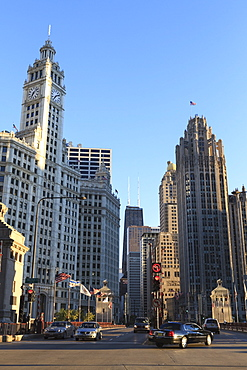 The Wrigley Building and Tribune Tower, North Michigan Avenue, Chicago, Illinois, United States of America, North America