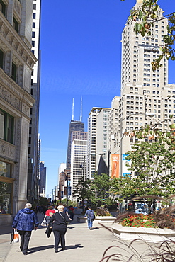 North Michigan Avenue's Magnificent Mile, Chicago's most fashionable shopping street, Chicago, Illinois, United States of America, North America