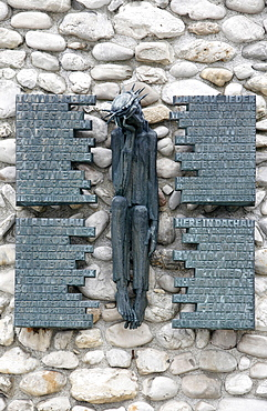 Polish memorial at Dachau concentration camp, Dachau, Bavaria, Germany, Europe