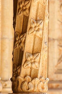 Jeronimos monastery cloister, Lisbon, Portugal, Europe