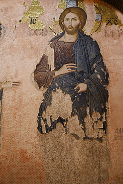 Christ in Kariye Camii (Holy Saviour in Chora church), Istanbul, Turkey, Europe