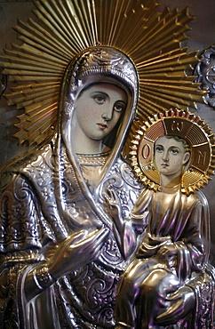 The Virgin and Child, Orthodox church, Lyon, Rhone-Alpes, France, Europe