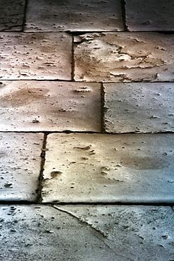 Paving stones in Saint Chef Abbey church, Saint-Chef-en-Dauphine, Isere, France, Europe
