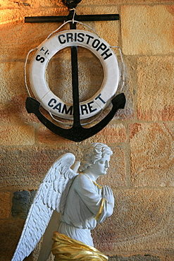 St. Christopher's church, Camaret-sur-Mer, Finistere, Brittany, France, Europe
