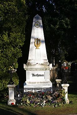 Beethoven's tomb, Vienna, Austria, Europe