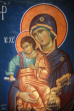 Virgin and Child, Greek Orthodox icon, Thessaloniki, Macedonia, Greece, Europe