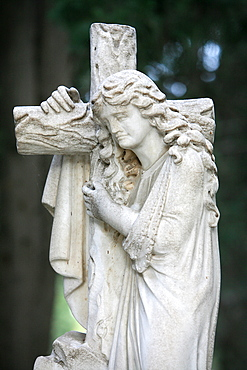 Sculpture in a Thessaloniki graveyard, Thessaloniki, Macedonia, Greece, Europe