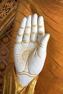 Hand of the Buddha, Dharmikarama temple, Penang, Malaysia, Southeast Asia, Asia