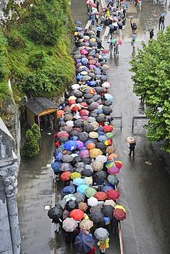 Pope Benedict XVI's visit to Lourdes, Hautes Pyrenees, France, Europe