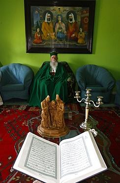 S.S. Haxhi Dede Reshat Bardhi sitting in the Tirana Bektachi HQ, Tirana, Albania, Europe