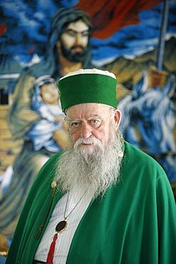 Bektachi leader Haxhi Dede Reshat Bardhi, Tirana, Albania, Europe