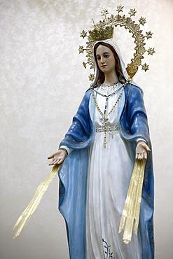 Beaming Virgin in St. Mary of Nazareth church, Sweifieh, Amman, Jordan, Middle East
