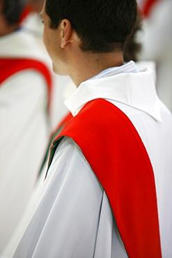 Newly ordained deacon, Pontigny, Yonne, France, Europe