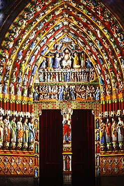 Last Judgement Gate, Amiens Cathedral, UNESCO World Heritage Site, Amiens, Somme, France, Europe