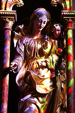 Virgin and Child, Abondance Abbey church, Abondance, Haute Savoie, France, Europe