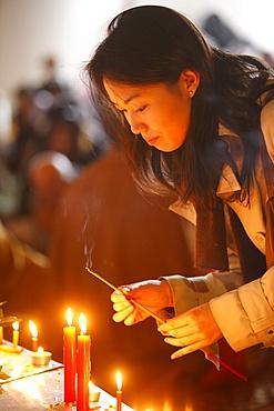 Vesak celebration at Vincennes Buddhist temple, Paris, France, Europe