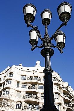 La Pedrera (Casa Mila) designed by Antonio Gaudi, Barcelona, Catalonia, Spain, europe