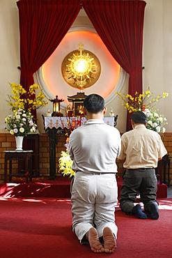 Holy sacrament adoration, Ho Chi Minh City, Vietnam, Indochina, Southeast Asia, Asia