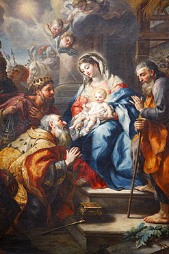 The Adoration of the Magi by J.M. Rottmayr dating from 1723, Melk Abbey, Lower Austria, Austria, Europe