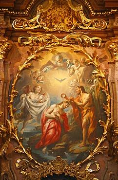 Baptism of Jesus, Melk Abbey, Lower Austria, Austria, Europe