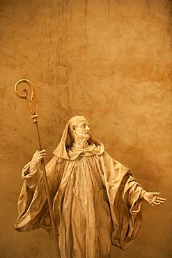 Sculpture, Saint-Vincent cathedral, St. Malo, Ille-et-Vilaine, Brittany, France, Europe