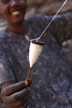 Cotton spinning, Lalibela, Wollo, Ethiopia, Africa