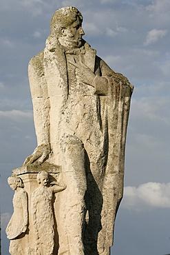 Statue of Francois-Rene de Chateaubriand, St. Malo,  Ille-et-Vilaine, Brittany, France, Europe