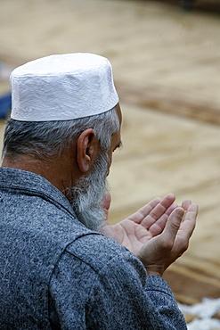 Muslim praying, Geneva, Switzerland, Europe