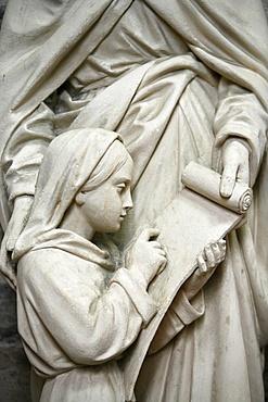 Sculpture, Saint-Samson cathedral, Dol-de-Bretagne, Ille-et-Vilaine, Brittany, France, Europe