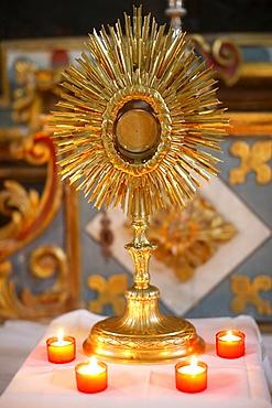 Holy sacrament, St. Nicolas de Veroce, Haute-Savoie, France, Europe