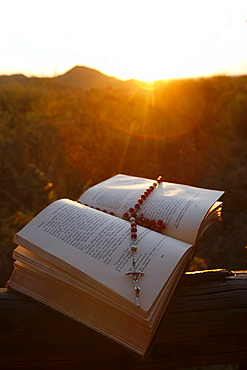 Bible and rosary, Madikwe, South Africa, Africa