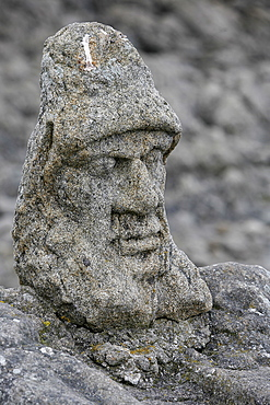 Rock sculpted by l'Abbe Foure, Rotheneuf, Ille-et-Vilaine, Brittany, France, Europe