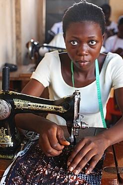 Tailoring workshop, Lome, Togo, West Africa, Africa
