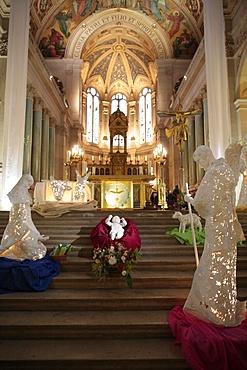 Christmas crib, Paris, France, Europe