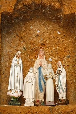 Virgin statues, Notre-Dame de la Gorge, Haute Savoie, France, Europe