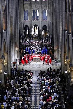 Priest ordinations celebrated by Cardinal Andre Vingt-Trois, in Notre-Dame de Paris cathedral, Paris, France, Europe