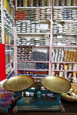 Traditional cures at the local apothecary's shop, Marrakech, Morocco, North Africa, Africa