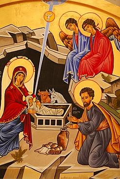Christmas crib depicting The Nativity, Rome, Lazio, Italy, Europe