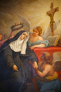 Rita of Cascia, Patron Saint of the Impossible, abused wives and widows, Rome, Lazio, Italy, Europe