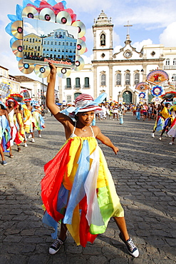 Costume band at Salvador carnival, Bahia, Brazil, South America